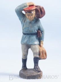 1. Brinquedos antigos - Elastolin - Carregador de Estação Bitola 1 Década de 1930