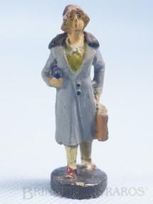 1. Brinquedos antigos - Elastolin - Passageira Bitola 1 Década de 1930