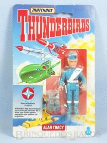 1. Brinquedos antigos - Matchbox - Thunderbird Alan Tracy importado pela Estrela na década de 1990