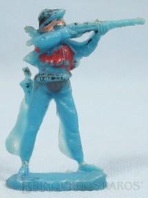 1. Brinquedos antigos - Casablanca e Gulliver - Cowboy de pé atirando com rifle Cowboy Atirador Casablanca numerado 15 Distribuído pela Trol e pela Viocena Década de 1970