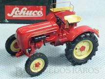 1. Brinquedos antigos - Schuco - Trator Agrícola Porsche Diesel Junior com 6,00 cm de comprimento Década de 1990