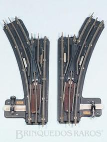 1. Brinquedos antigos - Hornby Meccano - Par Desvios Manuais Hornby Paris Década de 1930