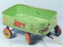 1. Brinquedos antigos - Metalma - Carrinho de Praia com 25,00 cm de comprimento Década de 1950