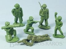 1. Brinquedos antigos - Balila - Conjunto Completo de seis soldados 6,00 cm de altura Década de 1980