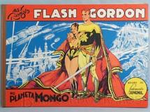 1. Brinquedos antigos - Ebal - Livro em Quadrinhos Flash Gordon no Planeta Mongo Edição comemorativa Capa dura 47,00 x 33,00 cm 60 páginas Ano 1977