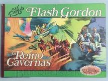 1. Brinquedos antigos - Ebal - Livro em Quadrinhos Flash Gordon no Reino das Cavernas Edição comemorativa Capa dura 47,00 x 33,00 cm 55 páginas Ano 1974