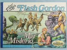 1. Brinquedos antigos - Ebal - Livro em Quadrinhos Flash Gordon no Mar do Mistério Edição comemorativa Capa dura 47,00 x 33,00 cm 30 páginas Ano 1978