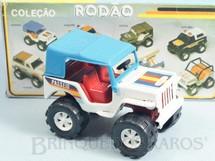 1. Brinquedos antigos - Bandeirante Banesa - Jeep Willys versão Passeio Coleção Rodão com 11,00 cm de comprimento Década de 1980