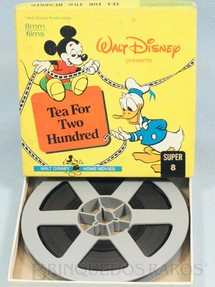1. Brinquedos antigos - Walt Disney Prod. - Desenho Animado Super 8 Mickey e Donald Tea For two Hundred preto e branco mudo Walt Disney Década de 1960
