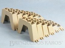 1. Brinquedos antigos - Estrela - Conjunto completo de seis pares de pilares Licença Gilbert Co. Ano 1963