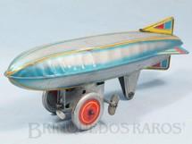 1. Brinquedos antigos - Sem identificação - Dirigivel com Rodas e Hélice 24,00 cm de comprimento Reprodução de brinquedo da Década de 1920 Década de 1990