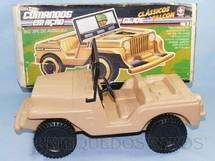 1. Brinquedos antigos - Estrela - Jeep Willys bege Completo com Adesivos ainda por colocar Série 1980