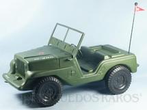 1. Brinquedos antigos - Estrela - Jeep Willys verde Completo com adesivos Série 1977
