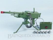 1. Brinquedos antigos - Estrela - Falcon Aventura Contra Ataque completa com Metralhadora à pilha Cinto de Balas e 6 Granadas Edição 1979