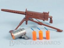 1. Brinquedos antigos - Estrela - Falcon Aventura Defesa Heróica completa com Metralhadora e mais 4 Itens Edição 1981