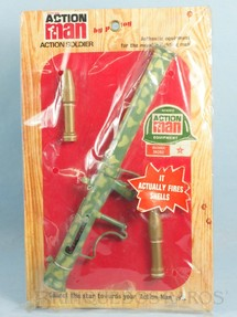 1. Brinquedos antigos - Palitoy - Conjunto Action Man Bazooka Set com 3 itens  Bazuca camuflada Falcon Cartela Lacrada Ano 1965