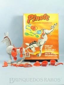 1. Brinquedos antigos - Estrela - Jogo Pinote o Burrinho Manhoso Ano 1974