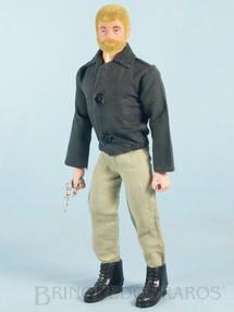Brinquedos Antigos - Estrela - Boneco Falcon Loiro com Barba Agente Secreto 100% original completo com 4 itens Edição 1977