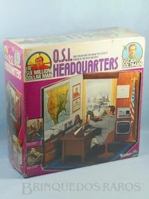 1. Brinquedos antigos - Kenner - Ciborg Homem de Seis Milhões de Dólares Oscar Goldman O.S.I. Headquarters Caixa lacrada Ano 1975