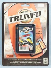 1. Brinquedos antigos - Grow - Jogo Super Trunfo Scooters Blister Lacrado Década de 1990