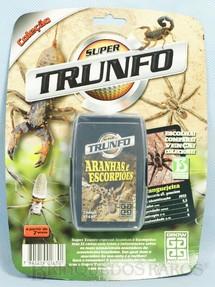 1. Brinquedos antigos - Grow - Jogo Super Trunfo Aranhas e Escorpiões Blister Lacrado Década de 1990