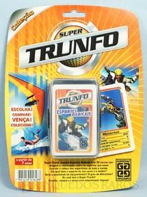 1. Brinquedos antigos - Grow - Jogo Super Trunfo Esportes Radicais Blister Lacrado Década de 1990