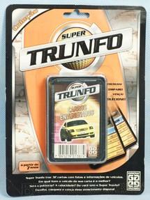 1. Brinquedos antigos - Grow - Jogo Super Trunfo Carros Envenenados Blister Lacrado Década de 1990