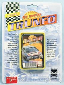 1. Brinquedos antigos - Grow - Jogo Super Trunfo Super Rally Blister Lacrado Década de 1990