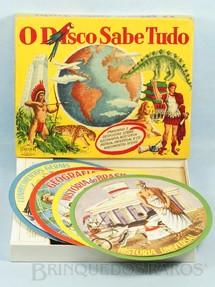 1. Brinquedos antigos - Coluna - Jogo de perguntas e respostas O Disco Sabe Tudo Década de 1960