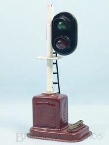 1. Brinquedos antigos - Sakai - Sinaleiro de linha com duas lâmpadas Década de 1950