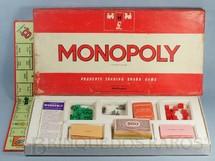 1. Brinquedos antigos - Waddingtons - Jogo Monopoly Banco Imobiliario peças de metal versão inglesa Ano 1961