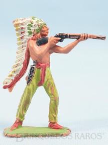 1. Brinquedos antigos - Casablanca e Gulliver - Chefe índio de pé atirando com rifle Gulliver numerado 29