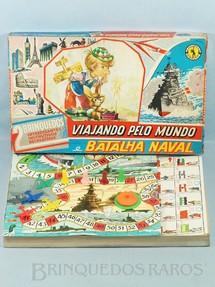 1. Brinquedos antigos - Guaporé - Jogos Viajando pelo Mundo e Batalha Naval completo Caixa assinada Kraus Década de 1970
