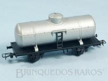 1. Brinquedos antigos - Atma - Vagão Tanque com dois eixos Cinza Década de 1960