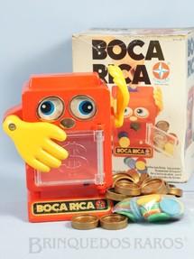 1. Brinquedos antigos - Estrela - Jogo Boca Rica completo com manual de instruções Ano 1984