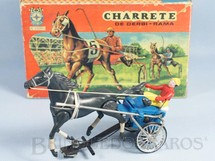 1. Brinquedos antigos - Estrela - Charrete de Derbi-Rama azul Ano 1968
