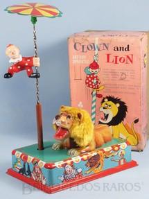1. Brinquedos antigos - Modern Toys e Masudaya Toys - Palhaço e Leão Clow and Lion Ano 1967