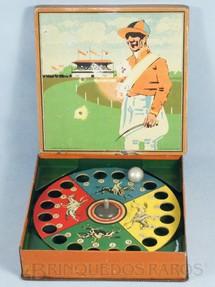 1. Brinquedos antigos - Metalma - Jogo Roleta Corrida de Cavalos Década de 1940
