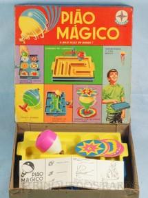 1. Brinquedos antigos - Estrela - Pião Mágico Caixa datada 1971