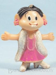 1. Brinquedos antigos - Sem identificação - Mônica de vestido de gala com 9,00 cm de altura Maurício de Sousa Década de 1970