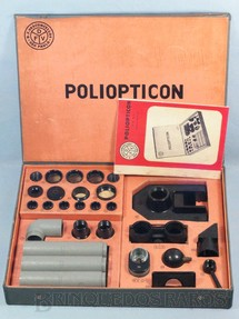 1. Brinquedos antigos - D.F. Vasconcellos - Conjunto de Partes Opticas Poliopticon Completo perfeito estado Década de 1950