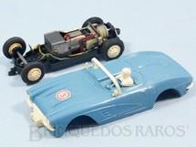 1. Brinquedos antigos - Estrela - Corvette azul licença Gilbert Co. Ano 1963