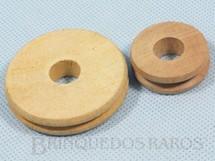 1. Brinquedos antigos - Estrela - Conjunto de Polia Grande e Pequena para Monte-Bras Década de 1960