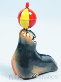 1. Brinquedos antigos - Lehmann - Foca Aha com bola 10,00 cm de altura Década de 1960