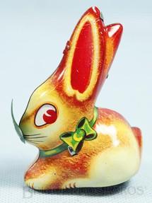 1. Brinquedos antigos - Lehmann - Coelho Hop Hop com 8,00 cm de altura Década de 1960