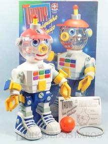 1. Brinquedos antigos - Estrela - Robot Trony Seu Amiguinho Eletrônico perfeito estado completo com Bola Argola e folheto de instruções 42,00 Cm de altura Ano 1994