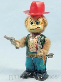 1. Brinquedos antigos - Yonezawa - Macaco Cowboy com 18,00 Cm de altura Década de 1960