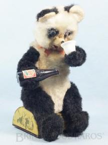 1. Brinquedos antigos - Alps - Urso Panda sentado bebendo refrigerante com  28,00 Cm de altura Década de 1960