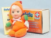 1. Brinquedos antigos - Estrela - Fofolete Laranja com 8,00 Cm de altura Olhos pintados Ano 1998