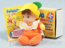 1. Brinquedos antigos - Estrela - Fofolete Laranja Série Frutinhas 8,00 Cm de altura Olhos pintados Ano 2000